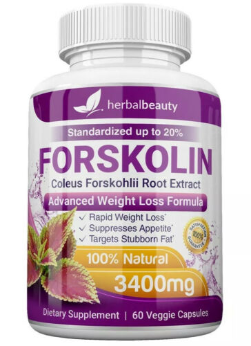 6 x Herbal Beauty FORSKOLIN 3400mg Maximum Strength RAPID RESULTS Pure Extract 3