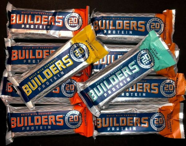 48 Assorted Flavors - CLIF BUILDER's - 20g PROTEIN BARS - 2.4oz