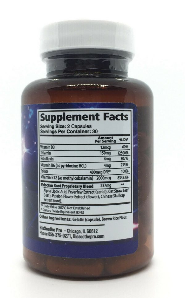 BioSoothe PRO Premium Nerve Formula Dietary Supplement Bio Soothe NEW 2