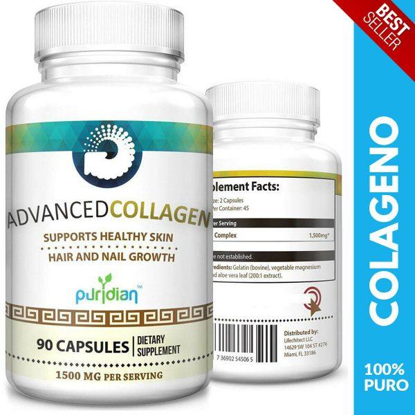 Colageno Hidrolizado 100% PURO Para Dolor Articulaciones Huesos Pelo Piel Y Uñas