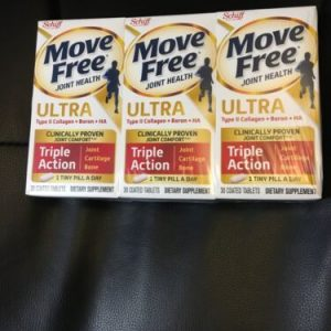 ( Lot of 3) Schiff Move Free ULTRA Triple Action  30ct Each Exp 02/2023