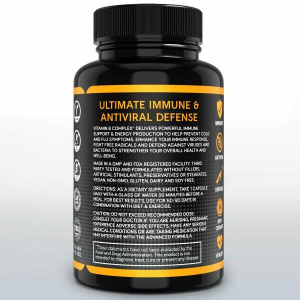 Vitamin B Complex Sustained Release Vitamin B1, B2, B3, B6, B12 Immunity 60ct 3