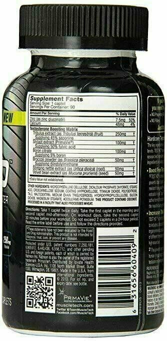 MuscleTech TEST HD Hardcore Testosterone Booster 90 Capsules 1
