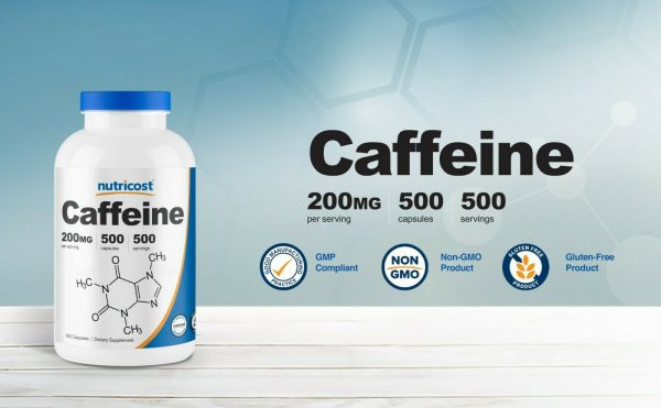 Nutricost Caffeine Pills, 500 Capsules, 500 Servings, 200mg Per Serving 3