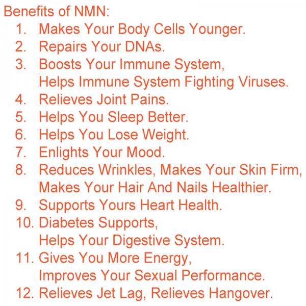 NMN β-Nicotinamide Mononucleotide Resveratrol NAD+Booster Anti-Aging Antioxidant 3