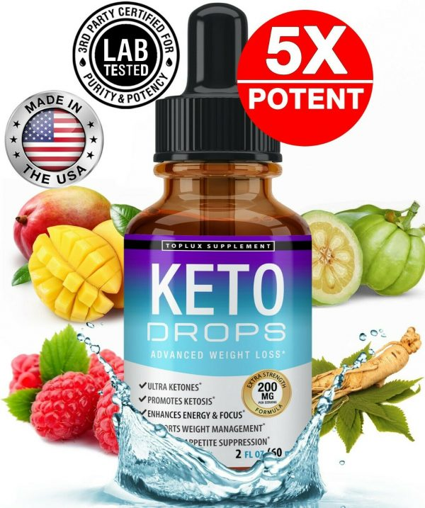 Keto Diet Shred Drops (2 PACK) Ketosis Weight Loss Supplement Fat Burn Carb Bloc 1