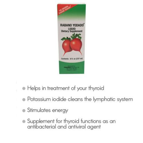 Rabano Yodado Liquid Dietary Supplement, Thyroid Treatment, 8 Fl Oz / 237 ml 3