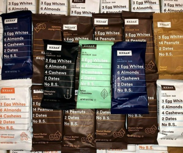 60 Assorted Flavor - RXBAR Whole Food - 12g Protein Bars Similar To Picture 2