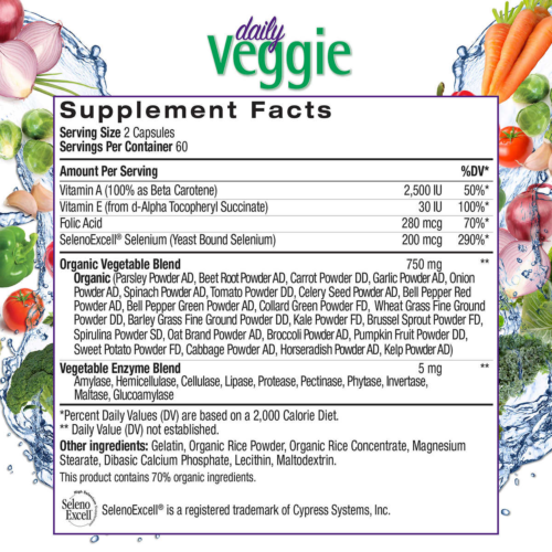 NATROL JUICEFESTIV DAILY FRUIT AND VEGGIE PROBIOTICS ANTIOXIDANTS 240 CAPSULES 2