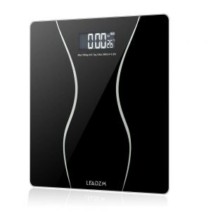 400lb Backlit LCD Digital Bathroom Body Weight Scale Tempered Glass + Batteries