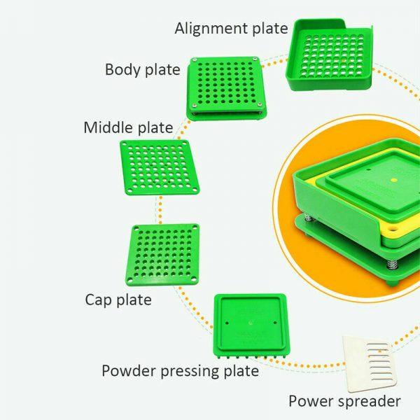 100 Holes Capsul Filler Size 000 00 0 1 2 3 Manual Filling Machine Tamper Tool 5