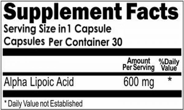Alpha Lipoic Acid 600mg Metabolism, Skin Aging,Weight Loss, Energy 2