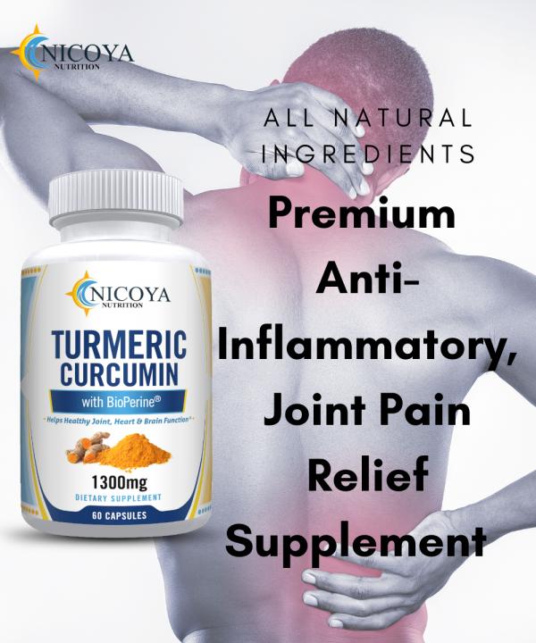 Turmeric Curcumin with Bioperine 1300mg - Anti-inflammatory & Joint Pain Relief 6