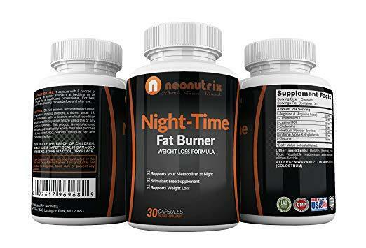 Night Time Fat Burner Weight Loss Pills for Men and Women Burn Fat 1