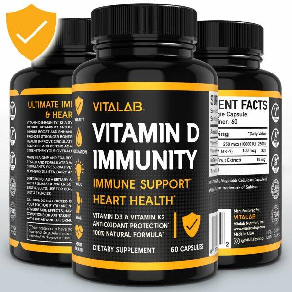 Vitamin D Immune Booster Vitamin D3 Complex 10,000 IU Supplement