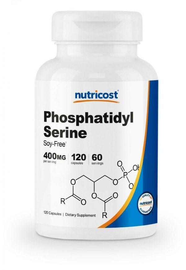 Nutricost Phosphatidylserine 400mg, 120 Capsules, 60 Servings, Soy Free