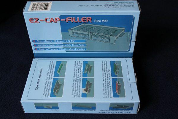 50 holes EZ-CAP-FILLER cap filler machine size 4,3,2,1,0,00,000 respectively 6