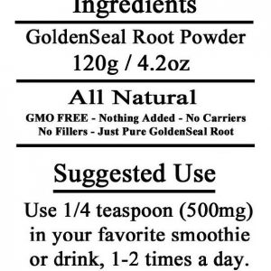 Golden Seal Root Powder Anti inflammatory GMO Free 120g 4 ounces ~ 240 Servings  1