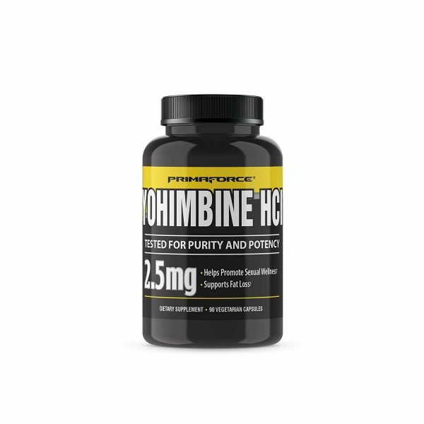 PrimaForce Yohimbine HCl, 2.5mg Capsules - Weight Fat Loss Supplement - 90 Count