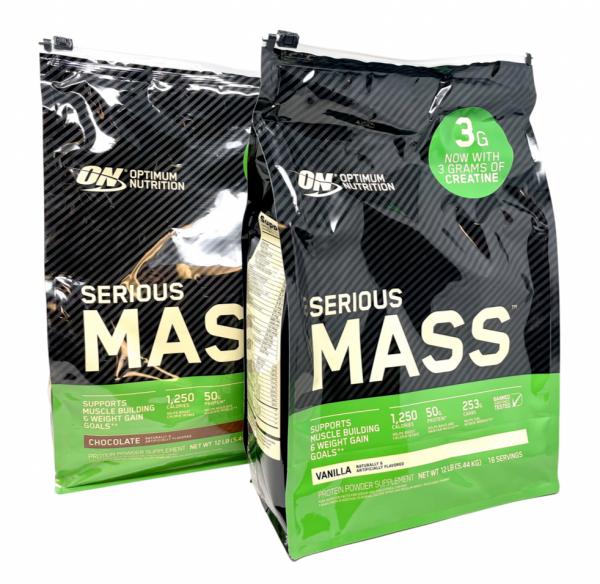Optimum Nutrition ON Serious Mass 12Lbs Mass Gainer Weight Gainer Protein Powder