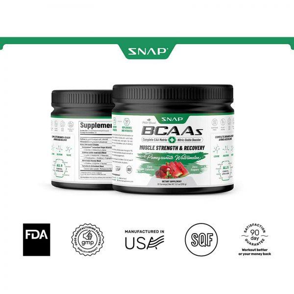 BCAA Powder | Nitric Oxide Booster  Essential Amino Acids Pomegranate Watermelon 3