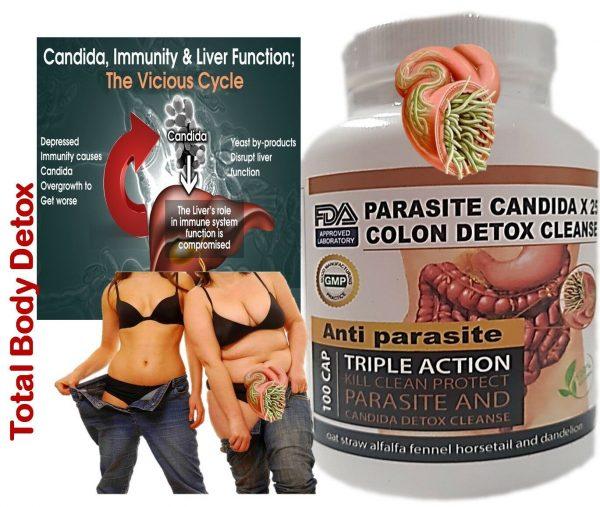Remove Parasite ANTI PARASITE & CANDIDA DETOX Body Cleanse ULTRA FLASH COLON 100 3