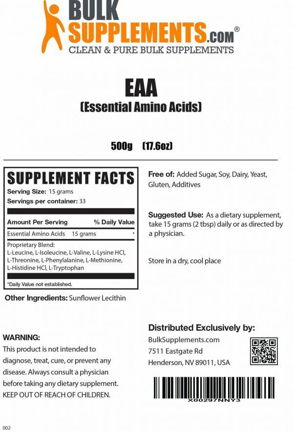 BulkSupplements.com Essential Amino Acids (EAA) 3