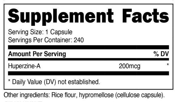 Nutricost Huperzine A Capsules 200mcg, 240 Capsules - Non-GMO, VegetariaFriendly 1