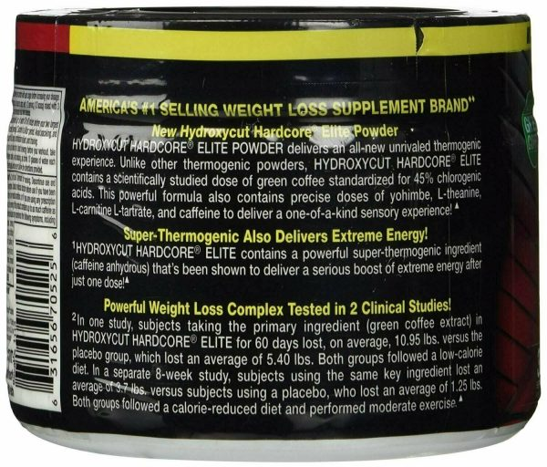 Muscletech Hydroxycut Hardcore Elite Powder 30 Servings Blue Raspberry 1