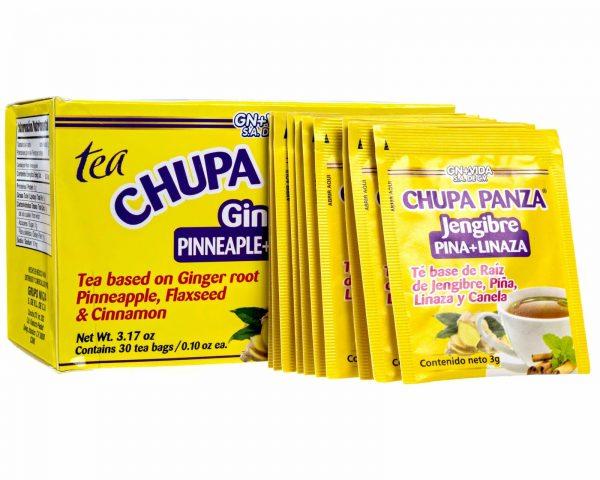 TEA CHUPA PANZA Jengibre, Pina, Linaza Te Ginger, Cinnamon Pineapple 30 Day 2