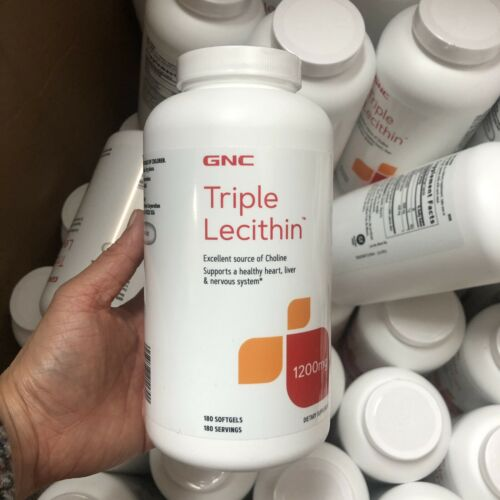GNC Triple Lecithin 1200mg 180ct  Supports A Healthy Heart Liver Exp 11/2021