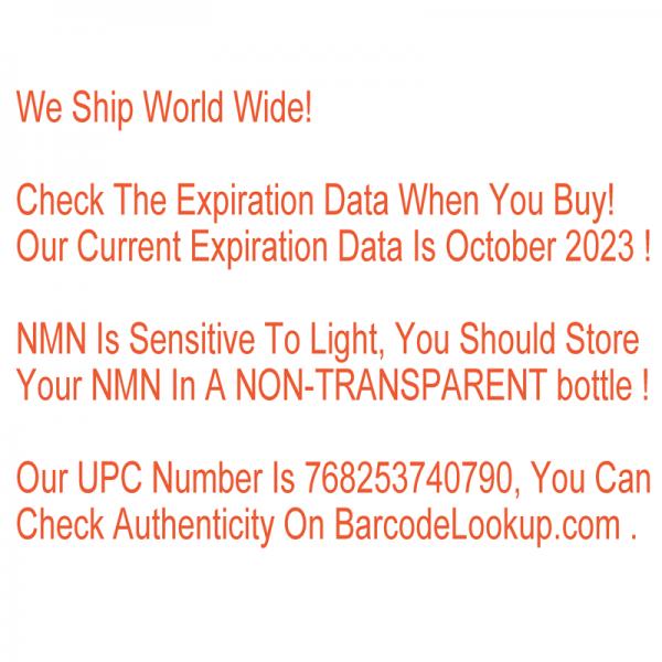 NMN β-Nicotinamide Mononucleotide Resveratrol NAD+Booster Anti-Aging Antioxidant 5