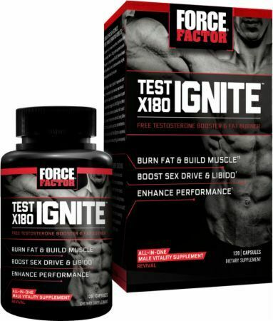 Force Factor Test X180 Ignite , Testosterone Booster - 120 Capsules