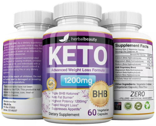 3 x Herbal Beauty KETO BHB 1200mg PURE Ketone FAT BURNER Weight Loss Diet Pills 6