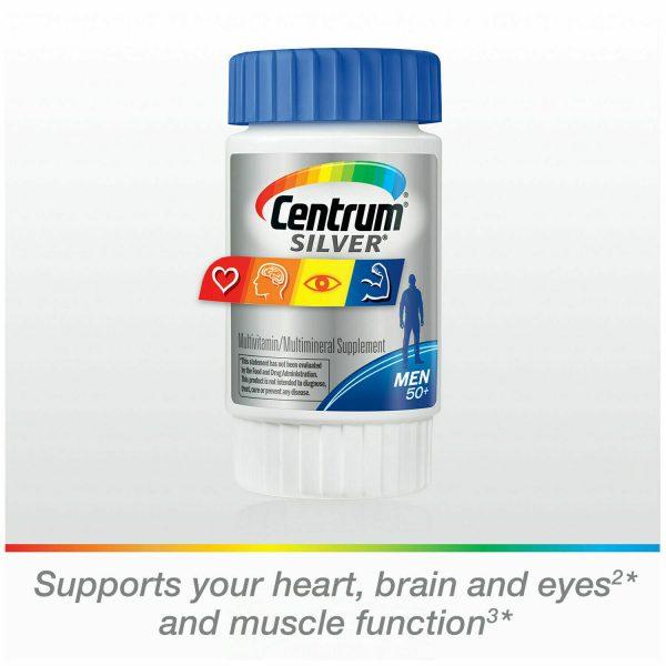 Centrum Silver 100 Tablets Men 50+ Multivitamin *EXP 9/21* 1