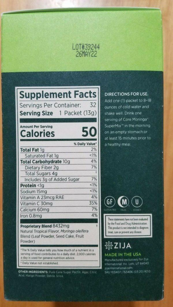 Zija SuperMix. Core Moringa Oleifera 32 Packets. New & Sealed 1
