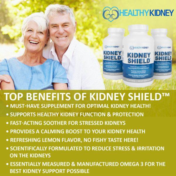 Kidney Shield Supplement Health Renal Detoxing Function Cleansing Omega 3  5