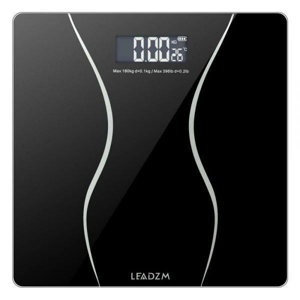 400lb Backlit LCD Digital Bathroom Body Weight Scale Tempered Glass + Batteries 1