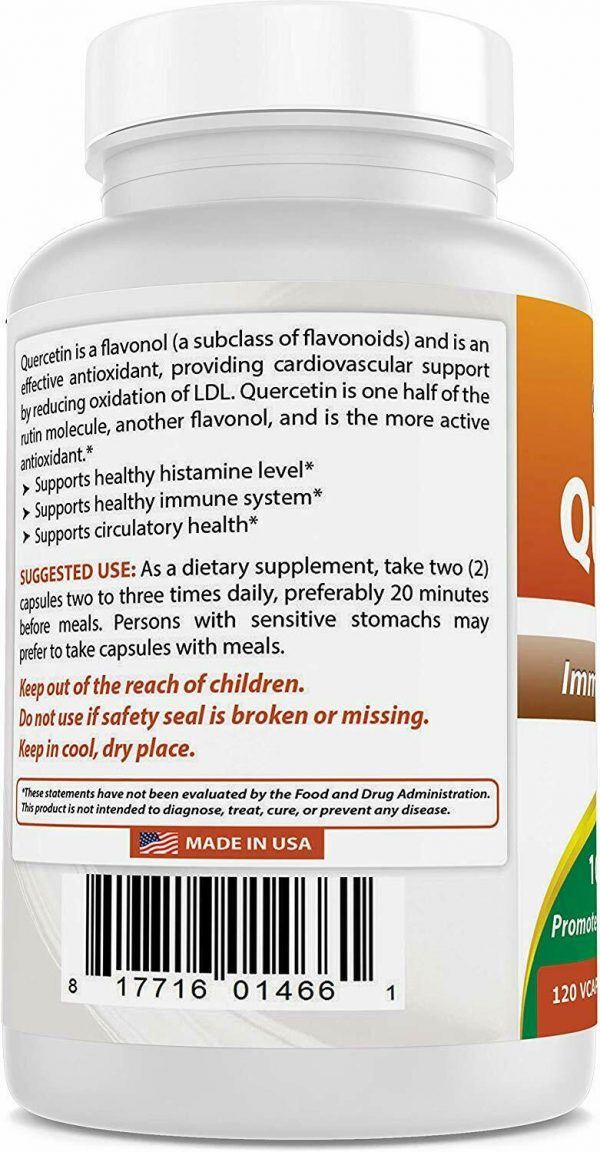 Best Naturals Quercetin 1000 mg/Serving 120 Veggie Capsules  5