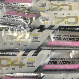 Cellucor C4 Zero PreWorkout Pink Lemonade 25 Single Serve Pouches PAST DATE DEAL