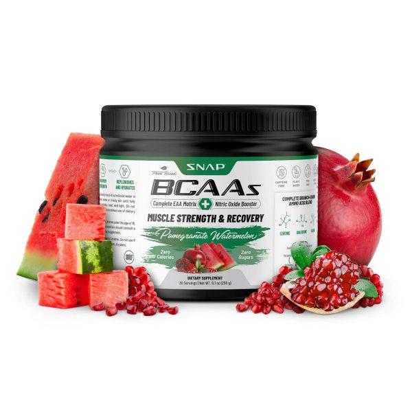 BCAA Powder | Nitric Oxide Booster  Essential Amino Acids Pomegranate Watermelon