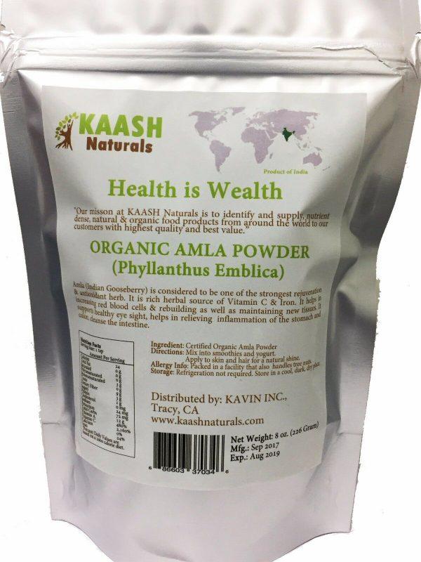 AMLA (Amalaki) Gooseberry POWDER, 100% Raw from India,USDA Certified Organic  1