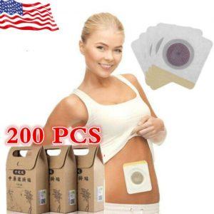 10-200 PCS Slimming Patch Weight Loss Burning Fat Navel Sticker Herbal Detox Lot