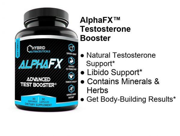 AlphaFX Testosterone Booster, Estrogen Blocker, Horny Goat Weed, Tribulus 2