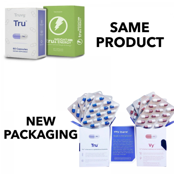 TRUVISION Health Month WEIGHT LOSS Weight & Energy 30 Day DIET Control TRU & VY 2