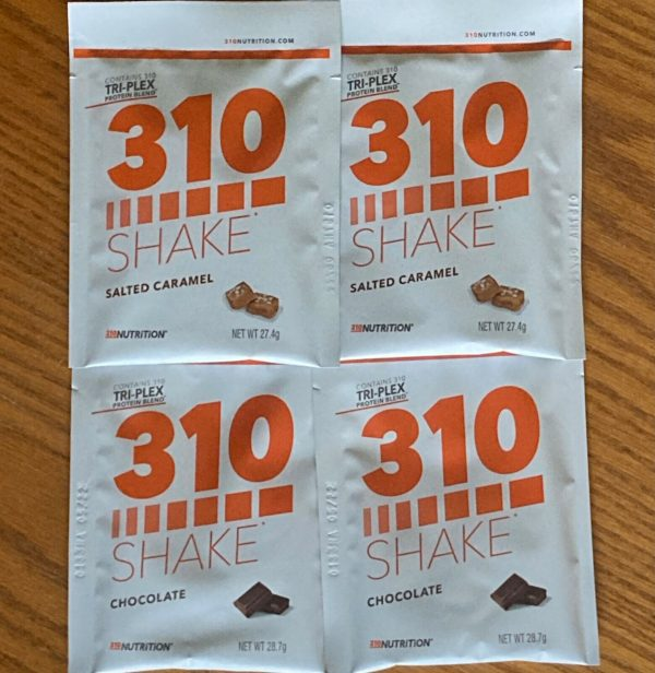 310 NUTRITION shake 4 packets - chocolate and salted caramel - 4 servings