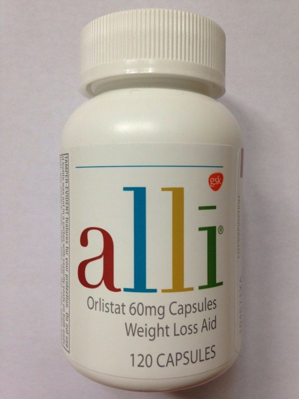 ALLI Weight Loss Aid 120 Pill / Capsule Refill Pack Orlistat 60mg Ali Ally Allie 1