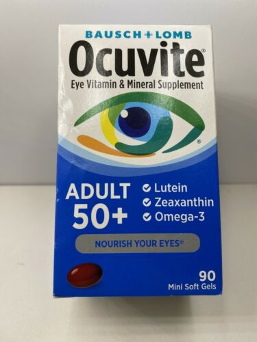 Bausch + Lomb Ocuvite Adult 50+ Eye Vitamin + Mineral - 90 Ct 06/2022 & Better 1