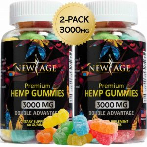 (2 Pack) New Age Naturals Advanced H*mp Big Gummies 3000mg 120ct - 100% Natural