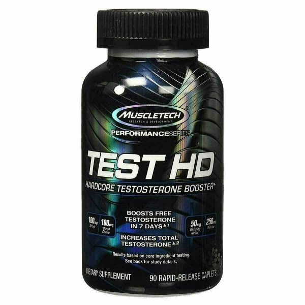 MuscleTech TEST HD Hardcore Testosterone Booster 90 Caps TESTHD